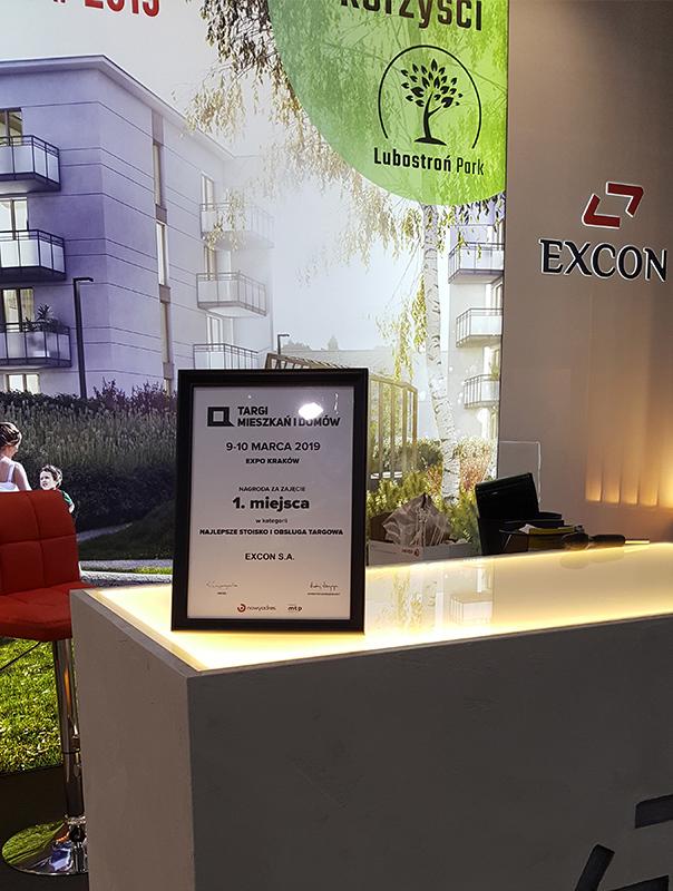 Nagroda za najlepsze stoisko i obsługa targowa EXCON S.A.
