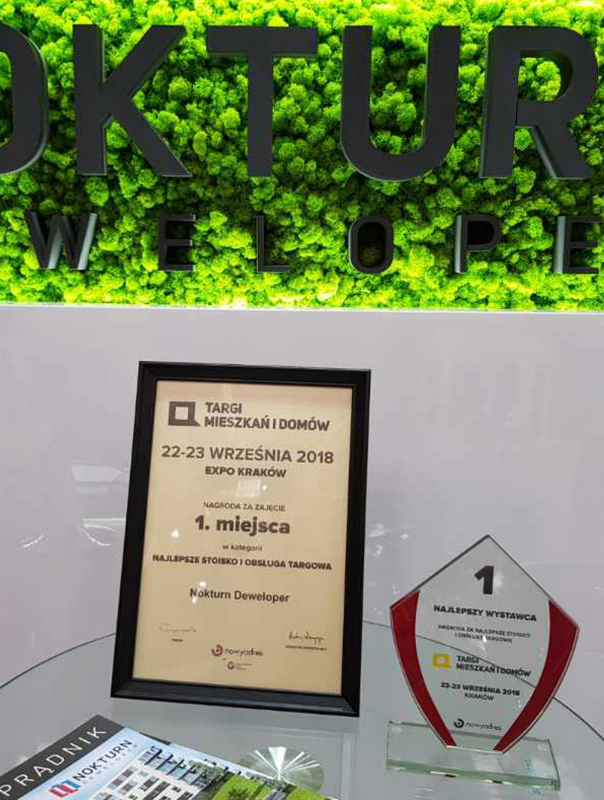 Nagroda najlepsze stoisko i obsługa targowa - Nokturn Deweloper