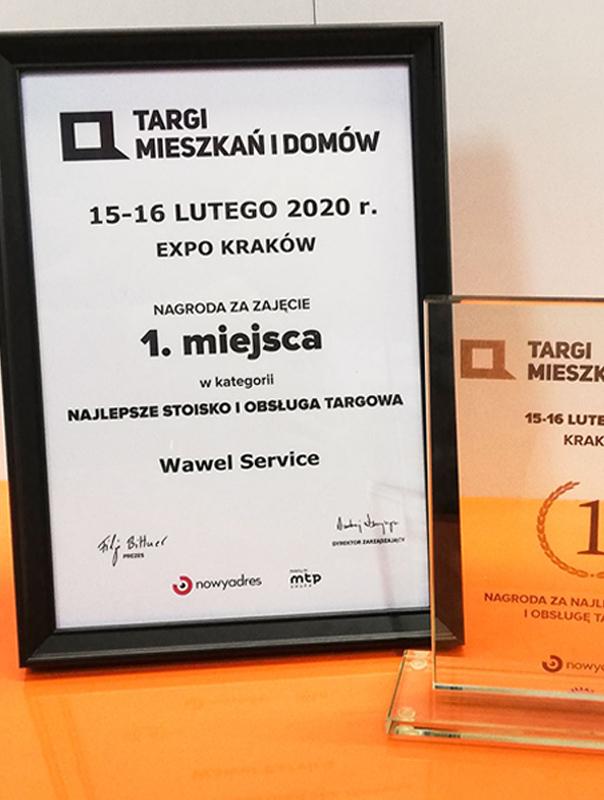 Nagroda najlepsze stoisko i obsługa targowa - Wawel Service.
